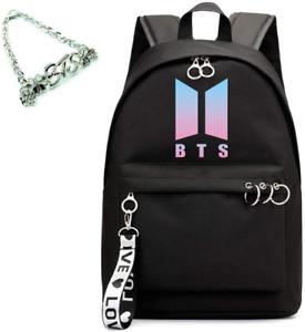Yongshida Kpop Fashion BTS Backpack Colleage Bookbag School Bag