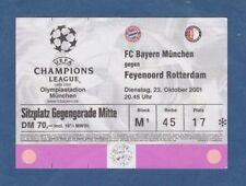 Orig.Ticket  Champions League 2001/02  BAYERN MÜNCHEN - FEYENOORD ROTTERDAM  !!