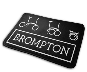 Bath Mat Bedroom Rug with BROMPTON logo 60x40 cm
