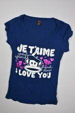 Paul Frank juniors Girls Women's Multi Color Short Sleeve Tee T- Shirt Sz L Mint
