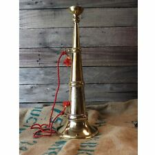 Old Firefighter Fire Parade Horn Trumpet or Bugle with Rope Solid Brass Replica