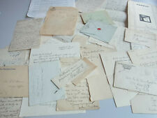 Collection of English letters / autographs -- 1817-1953 -- 37 documents