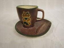 ICONIC LEGENDWARE COFFEE CUP w/ ASHTRAY SAUCER SEDONA HANDMADE AMERICAN POTTERY
