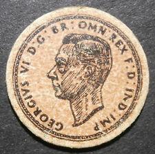 Jouet de l'argent-carton demi penny 1937 George VI-par Jack Thundra of London 25 mm