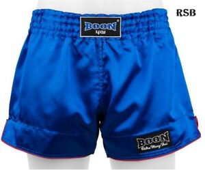 BOON SPORT BOXING SHORTS RETRO BLUE  S M L XL XXL MUAY THAI SHORTS MMA K1