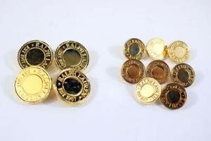 RALPH LAUREN 12 PC Buttons GOLD Metal Blazer Jacket Replacement 4 BIG 8 SMALL