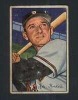 1952 Bowman #60 Sid Gordon VG/VGEX Bos Braves 101828