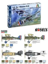 WWI S.E. 5a ALBATROS D.III 1/72 Model Kit The Great War Aereo Plane Italeri 1374