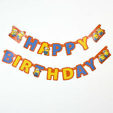 Minions Despicable Me Birthday Party Banner 180 Cm