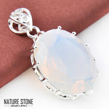 Special Price Rainbow Moonstone Gemstone Silver Necklace Pendants Jewlery Gift