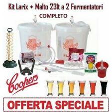 Coopers Kit di Fermentazione Birra + Due Fermentatori + Maltio
