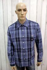 NAPAPIJRI Camicia Uomo Taglia XL Cotone Shirt Chemise Casual Manica Lunga