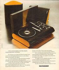 Publicité 1974  Chaine hi-fi SCHNEIDER musique son tourne disques