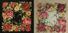 Gobelin Tapestry Panels Textile Picture Rosenpracht Flowers Crafting Fabric