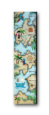 PIRATES Ahoy Nautical HEIGHT Chart Canvas Picture Home Decor Boys Bedroom