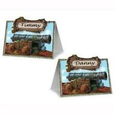 Pirate Cannon Place Cards 8 Pack Name Place Cards Pirate Birthday Party Decor