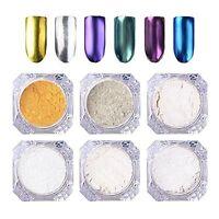 1g/box Mirror Powder Chrome Pigment Nail Glitter Nail Art Decoration 6 Colors