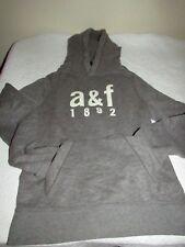 Abercrombie & Fitch Kids Boys Muscle XL Sweatshirt Hoodie Glow in DarkGrey NWT