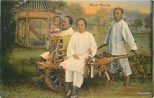 C-1910 Wheel Barrow Family Child China Kuhn Komor postcard 8446