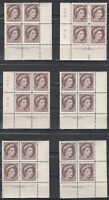Canada MINT NH Selection of Scott#337 Plate Blocks study