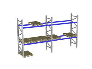 Palettenregal Bito P1 gebraucht Höhe 3000 mm Lichte Weite 2.700 mm 2 Ebenen