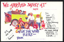 Holiday Greetings Postcard - Wish You Were Here - We Arrived Safely A5261