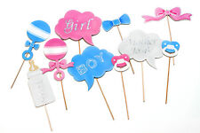 NEW Pastel Baby Gender Reveal - Photo Booth Props - Unisex -10pcs **REDUCED**