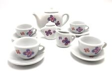 Tea Set Butterfly Porcelain 13pc Child Party Playset Cooking For Kids New Age 8+