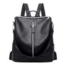 Women Backpack Shoulder Bag PU Leather Schoolbag Zipper Rucksack Handbag Satchel
