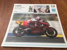 Porta Carte Motocicletta Cagiva 500 C591 Eddie Lawson 1991 Collezione Atlas