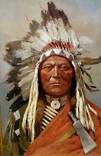 Sitting Bull American Indian by Henry Farny. Indians Repro on Canvas or Paper