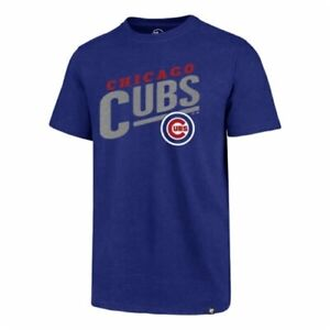 Chicago Cubs MLB '47 Brand Royal Blue Sandlot Men's Club Tee Shirt Brand New