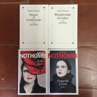 Albin Michel * Lot 1/6 * 4 Vol. * Amélie Nothomb * B.E.