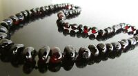 50 cm Genuine Baltic Amber Necklace, Beads Knotted Cherry  Colour