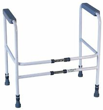 Bathroom Toilet Safety Frame Rails Grab Bars Adjustable Height Width Support Aid