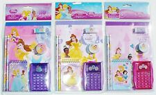 DISNEY PRINCESS 7-Pc. Back-to-School Stationery & Calculator Supplies Set NWT