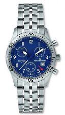 Revue Thommen Airspeed Chronograph Blue Dial Titanium Men's Watch 16001.9195