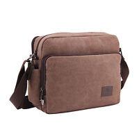 Vincenza Men's Retro Canvas Bag Travel Crossbody Satchel Outdoor Over Shoulder