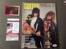 May 1987 GUITAR mag  SIGNED by  JON BON JOVI and RICHIE SAMBORA  AUTOGRAPHED JSA