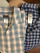 Lot Of 2 Mens Patagonia Short Sleeve Button Front Plaid Shirt XXL (5A)