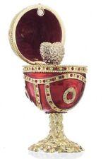Faberge Egg & heart trinket box hand made by Keren Kopal & Austrian crystals