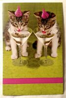 Happy Birthday Greeting Card American Greetings Cats Cocktails New With Envelope