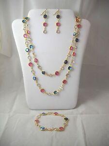 Swarovski Vintage ABs, Crystals & 14K Gold Filled Necklace Set NWOT
