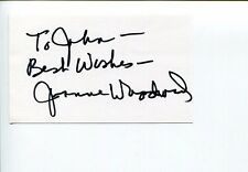 Joanne Woodward Long Hot Summer The Three Faces of Eve Signed Autograph