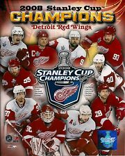 2008 Detroit Red Wings Championship Composite  8 x 10 Photo NEW