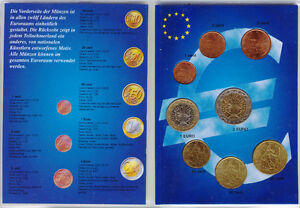 France - Set of 8 Euro Coins (UNC) **RARE**