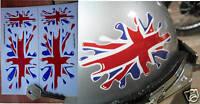 Union Jack Flag SPLAT set of 4 Car stickers Britain GB