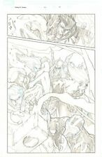 Avengers: Initiative #22 p.14 Clone of Thor vs. Heroes Action by Humberto Ramos
