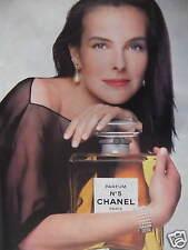 PUBLICITÉ PAPIER PARFUM CHANEL N°5 CAROLE BOUQUET - ADVERTISING PAPER