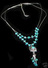 Double Liquid Sterling Silver Turquoise Nugget Necklace